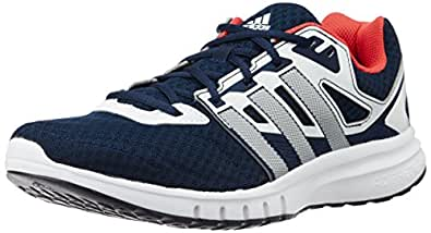 adidas Men's Galaxy 2 Wide M Blue, Silver and Red Mesh Running Shoes - 11 UK