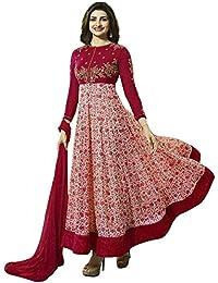 Special Mega Sale Festival Offer C&H Red Georgette Designer Semi-Stitched Anarkali Suits
