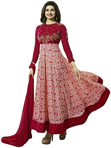 Bigben Red Georgette Embroidery Designer Anarkali Suits