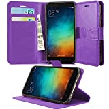 GBOS XIAOMI REDMI 3S Prime Cover, Pink Leather Wallet FLIP CASE Cover Soft Pouch Book CASE Cover Stand CASE for XIAOMI REDMI 3S Prime
