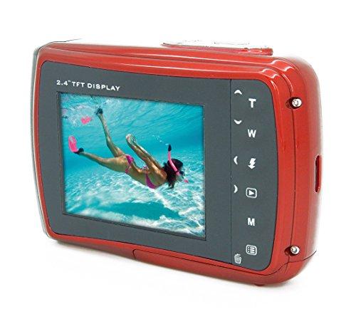Aquapix W1024-R Splash Unterwasser Digitalkamera rot - 6