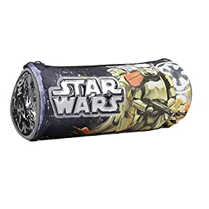 Graffiti Star Wars Estuches, 22 cm, Gris (Grey)
