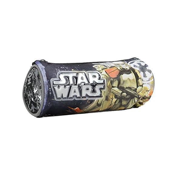 Graffiti Star Wars Estuches, 22 cm, Gris (Grey)