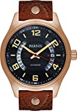 Orologio da uomo automatico PARNIS 3247 zaffiro vetro data display 10BAR meccanismo Miyota ø43mm in acciaio INOX massiccio