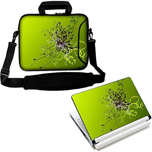"""Luxburg® 15"""" Zoll Schultertasche Laptoptasche Notebooktasche Tragetasche mit Tragegurt Plus freie Laptop-Aufkleber"""