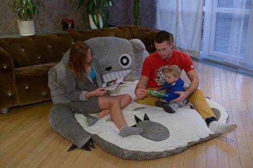 Totoro Cartoon Bett Matratze Smiling Einzelbett/Doppelbett groß Sitzsack, Lounge LARGE/XXL (XXL)