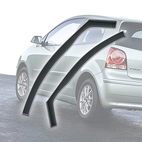 VW Polo (2002 to 2009 2DR) Wind Deflectors Rain Wind Window Deflectors
