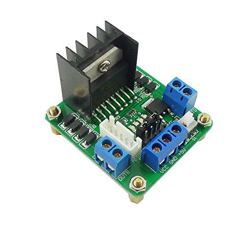 Aihasd L298N Doppio H-bridge stepper driver del motore Modulo scheda di controllo - Modulo Di Controllo Del Motore