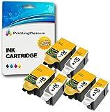 6 XL Tintenpatronen kompatibel zu Kodak 30XL (30B & 30CL) für Kodak Hero 2.2 3.1 4.2 5.1 ESP 1.2 3.2 3.2S C100 C110 C115 C300 C310 C315 C330 C360 Office 2100 2150 2170 - Schwarz/Color, hohe Kapazität