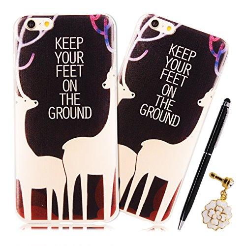 SpiritSun Beliebte Muster Hülle für Apple iPhone SE / 5 / 5S TPU Silikon Bumper Schutzhülle Weich Transparent Handyhülle Tasche Schlank Extrem Dünne Schale Leichtgewicht Anti-stoß Abdeckung mit Stylus Freiheit