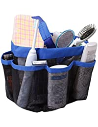 LWVAX Quick Dry Hanging Toiletry And Bath Organizer With 8 Storage Compartments, Shower Tote, Mesh Shower Caddy...