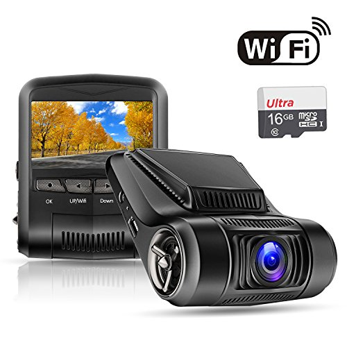 OldShark Dash Cam with WiFi (16GB Card Inclueded),1080P Full