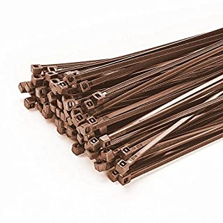 Pack of 100 Cable Ties Best 200mmx3,6 mm in Brown Shade Mesh Fence
