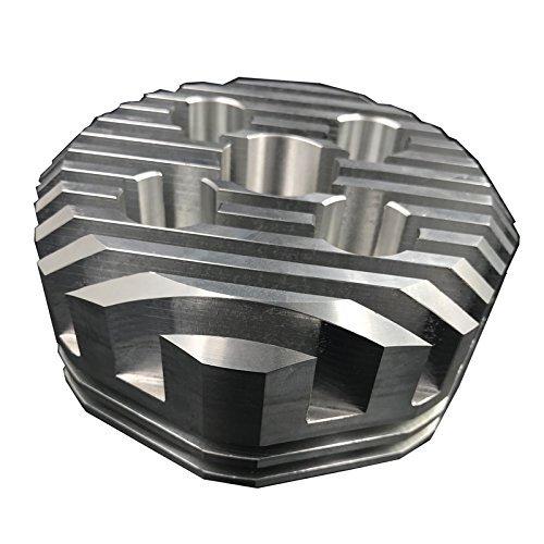 Racing Kopf (Polygon Art) für 2Takt Motor Kit 66cc/80cc- Gas Motor Motorisierte Fahrrad (Gas Motor Kit Für Fahrrad)