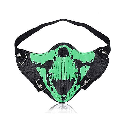 Peggy Gu Steampunk Maske Biker Männer Motorrad Halbe Gesicht Anti Staub Cosplay Airsoft Wind Cool Punk Maskerade Maske (Farbe : ()