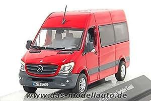 Mercedes Sprinter, rouge, voiture miniature, Miniature déjà montée, Premium ClassiXXs 1:43