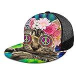 Gorra de béisbol con diseño de Gato Hippie, Corbata de Gatito y símbolo de la Paz,...