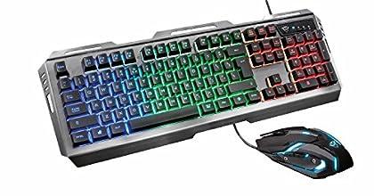 Trust Gaming GXT 845 Tural - Set de Teclado y r...