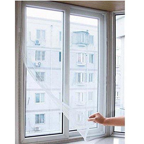 owikar Fenster Bildschirm Netz Mesh Vorhang, DIY Mosquito Net selbstklebend Frontscheibe Vorhang...