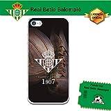 Funda Gel Flexible Betis para iPhone SE iPhone 5 5S, Carcasa TPU, protege y se adapta a la perfección a tu Smartphone. Licencia oficial Betis-Escudo1