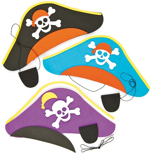 Bastelset - Piratenhut & Augenklappe - für Kinder -