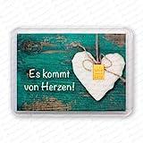 Goldbarren 1g 1 Gramm Motivbox ' Es kommt von Herzen ' Gold Barren
