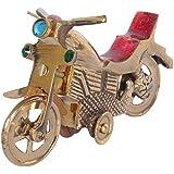 Jaipuri Haat Medium Size Antique Brass Made Bike Modelâ For Gift And Decoration Purpose (11*7*1.5 Cm)