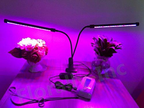 Lampada faretto led per piante florally w capo doppio led