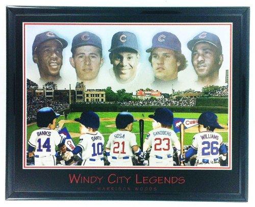 Gerahmtes MLB Baseball Chicago Cubs Sosa Banken Santo Sandberg Williams Wandbild F6636A -