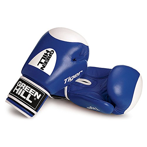 Greenhill Boxing Gloves Tiger With Target ( Blue , 10 OZ )
