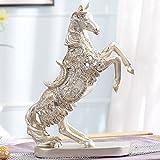 Goney Ornamente Kreative Europäischen Pferd Weinschrank Zubehör Home Handwerk Wohnzimmer Dekoration Geeignet für Wohnzimmer/Restaurant/Studie (Farbe : Silver-26cm*9.5cm*37cm)