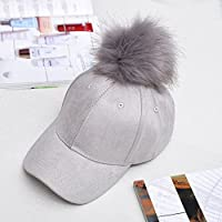 Qualilty - Gorra ajustable de béisbol para mujer, gris