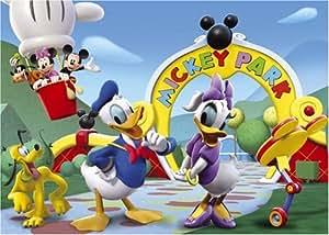 Clementoni - Puzzle pour enfant - Maison de Mickey Maxi - 24 pièces
