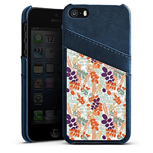 Apple iPhone 6 Housse Étui Silicone Coque Protection Ornements Motif Motif Étui en cuir bleu marine