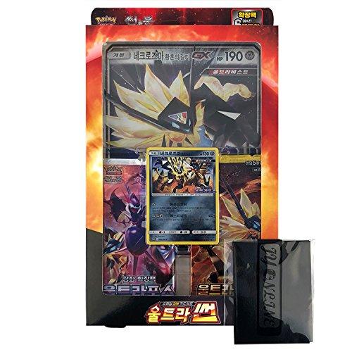 Pokemon Karte Sun&Moon Spezielle Jumbo Karten-Set 38 cards Koreanisch Ver TCG + 3pcs Premium Card Sleeve Ultra Sun Jumbo
