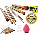 KATTI DEL COCO Cosmetics Makeup Brush Set Of 12 With Makeup Blender