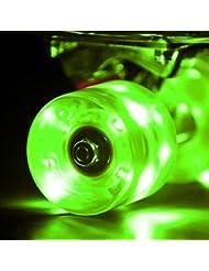 wonnv LED monopatín Cruiser ruedas con rodamientos ABEC-959× 45mm Set de 4, verde