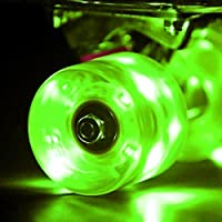 Wonnv LED Skateboard Wheels Cruiser Räder mit ABEC-7 Kugellager 59 × 45 mm Set von 4