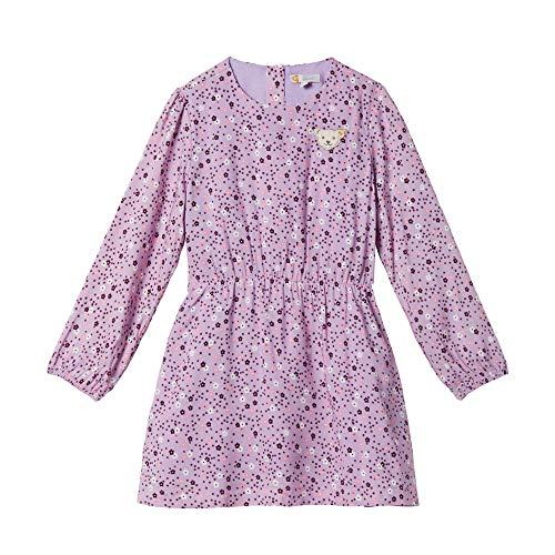 Steiff Mädchen Kleid , Violett (LAVENDER MIST 7020) , 122 (Herstellergröße:122)