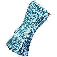 500 Pezzi Riutilizzabili Tondo Dot Stile Borsa Pacchetto Filo Metallico Cravatta Torsione Legami Torsione Metallico per Violoncello Sacchetti di Caramelle Blu