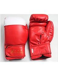transpirable/ el niño SandaPU guantes de boxeo/Botas-rojo