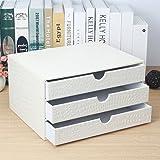 Schedario KKY-ENTER Armadietto porta documenti in cuoio per archivio dati bianco Organizer di cassetto di Office Desktop