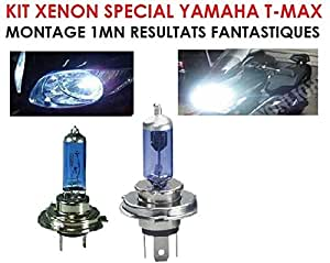 SPECIAL YAMAHA T-MAX TMAX ! LA PUISSANCE DU XENON PAR SIMPLE CHANGEMENT D'AMPOULE ! KIT XENON H7 + H4 100W !RAID PREPARATION 4X4