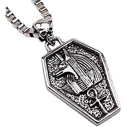 Fengteng Medieval Antigua Diosa Egipcia Cleopatra Protecci¨®n Estatua del Collar de Dios Hombres Retro