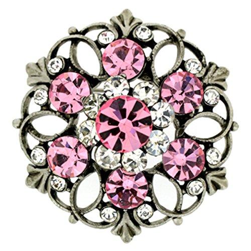 Spilla a forma di piccola spilla fiore rosa chiaro in cristallo swarovski ciondolo