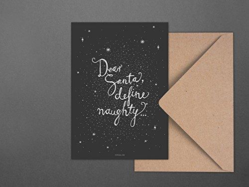 Freche Santa (Weihnachtskarte / Dear Santa No. 4)