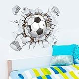 Holeider 3D gebrochene Fußball Wandaufkleber TV Hintergrund Abnehmbare Wanddekoration