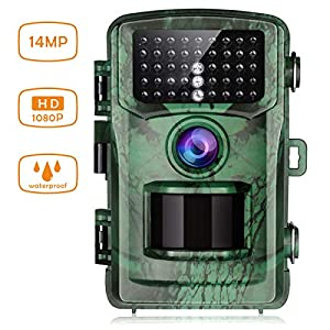 """【New Version】TOGUARD Trail Camera 14MP 1080P Wildlife Scouting Hunting Camera Motion Activated Night Vision Game Cam with 2.4"""" LCD Display IP56 Waterproof Design for Wildlife Hunting and Home Security"""