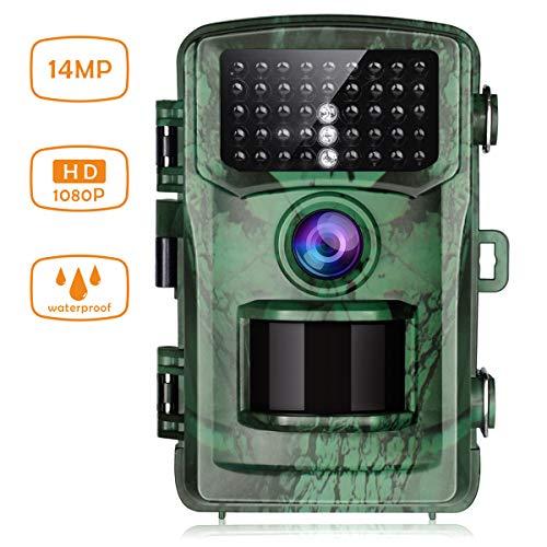 TOGUARD Fotocamera Caccia Fototrappola 42PCs IR LEDs Macchine Fotografiche da Caccia Visione Notturna 75ft/22m Impermeabile IP56