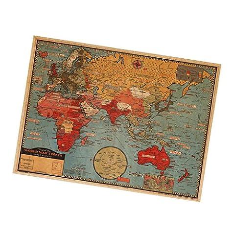 La Maison Et Le Monde - MagiDeal Carte De Monde Autocollant Murale Maison